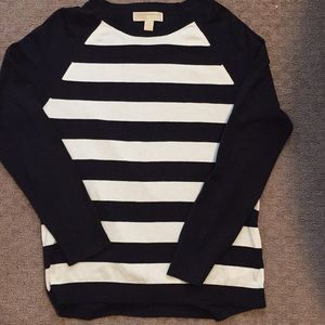 Michael Kors stripe smooth knit sweater S